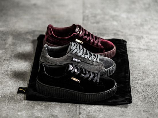 "Damen Schuhe sneakers Puma Creeper Velvet x Rihanna ""Black"" 364466 01"