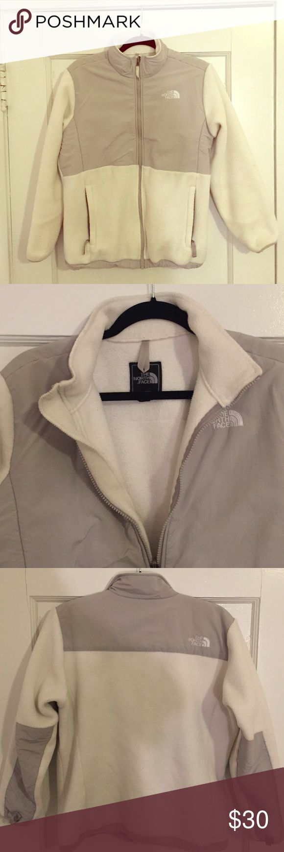 North Face white jacket White North Face jacket. Great condition and barely worn! It's an XL girls but wears as women's small or medium. North Face Jackets & Coats
