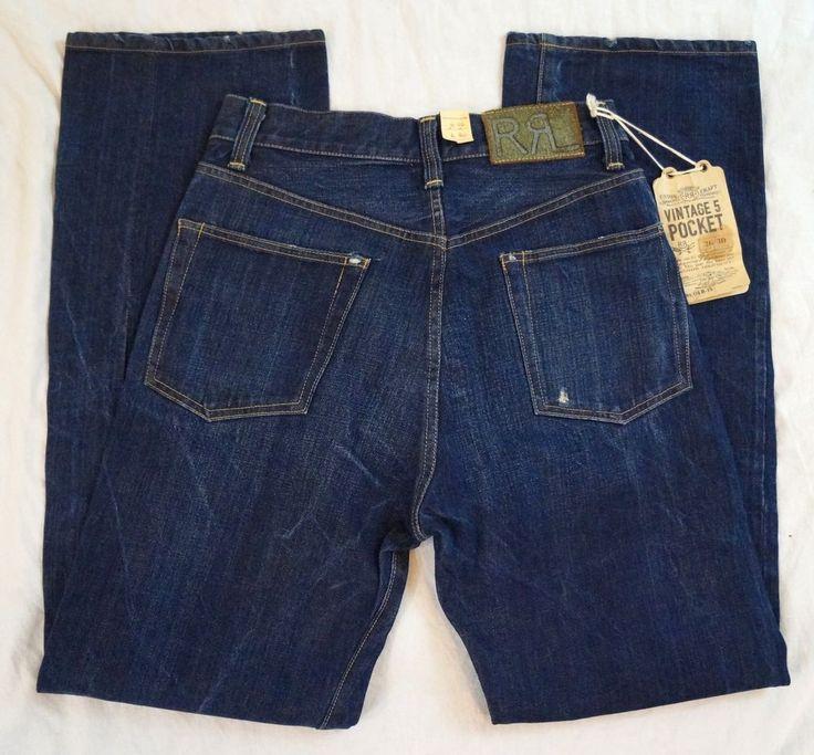 Ralph Lauren RRL Vintage 5 Pocket Mens Jeans Size 26 X 30 NWT ...