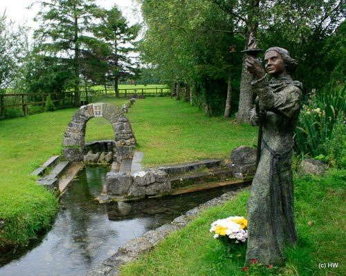 St Brigid's Well Kildare Ireland The site of St Brigid's well in Kildare is a very spiritual place There is a strong link with the pre-Christian celts who also venerated  Dana, who was the greatest of the de Danann goddesses; she was the mother of the Iris