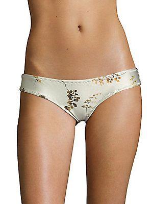 Made By Dawn Glimmer Petal Bikini Bottom - Beige-