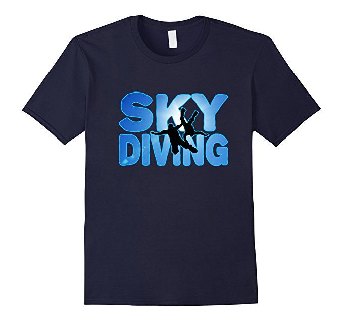 Amazon.com: Skydiving Parachute Wingsuit Base Jumping Silhouette T-Shirt: Clothing