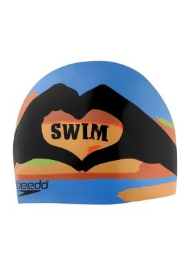 I Heart Swim Silicone Cap - SPEEDO  - Speedo USA Swimwear