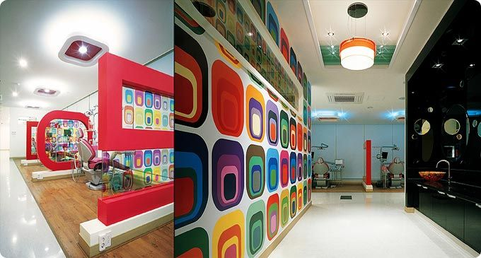 Hip and trendy dental offices are starting to become a for Hip office design