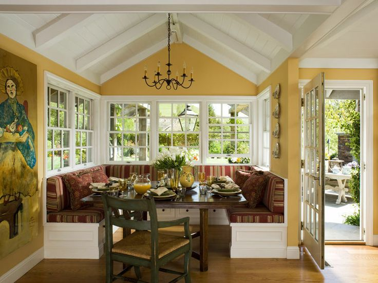 This Charming Breakfast Nook Encourages Precious Moments Of Shared Chatter And Was A Welcome Addition Dining Space To Small Country Kitchen That