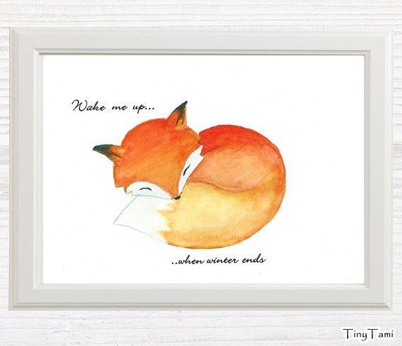 "♥+Fuchs+♥+Print+""Wake+me+up""+von+TinyTami+auf+DaWanda.com"