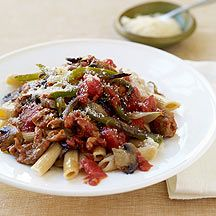 Weight Watchers Penne with Sausage and Peppers.   Easy to make and extra tasty.