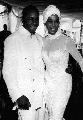Whitney Houston and Bobby Brown at Their Wedding