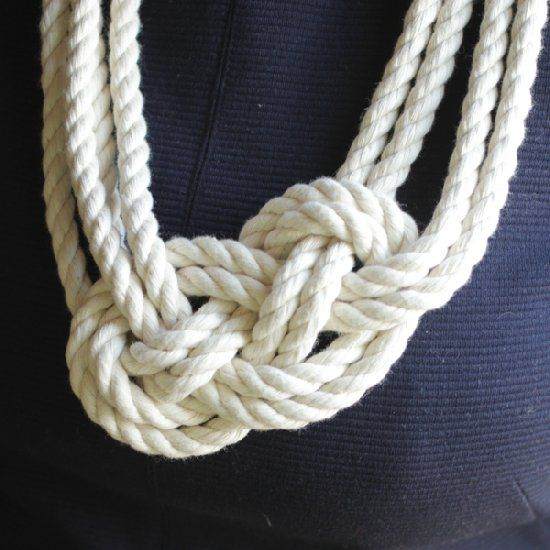 The perfect spring accessory, this nautical knot necklace is easy to complete and makes a statement.
