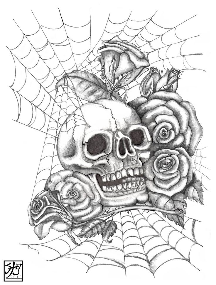 Top 25 best skull and rose drawing ideas on pinterest for Cool rose drawings