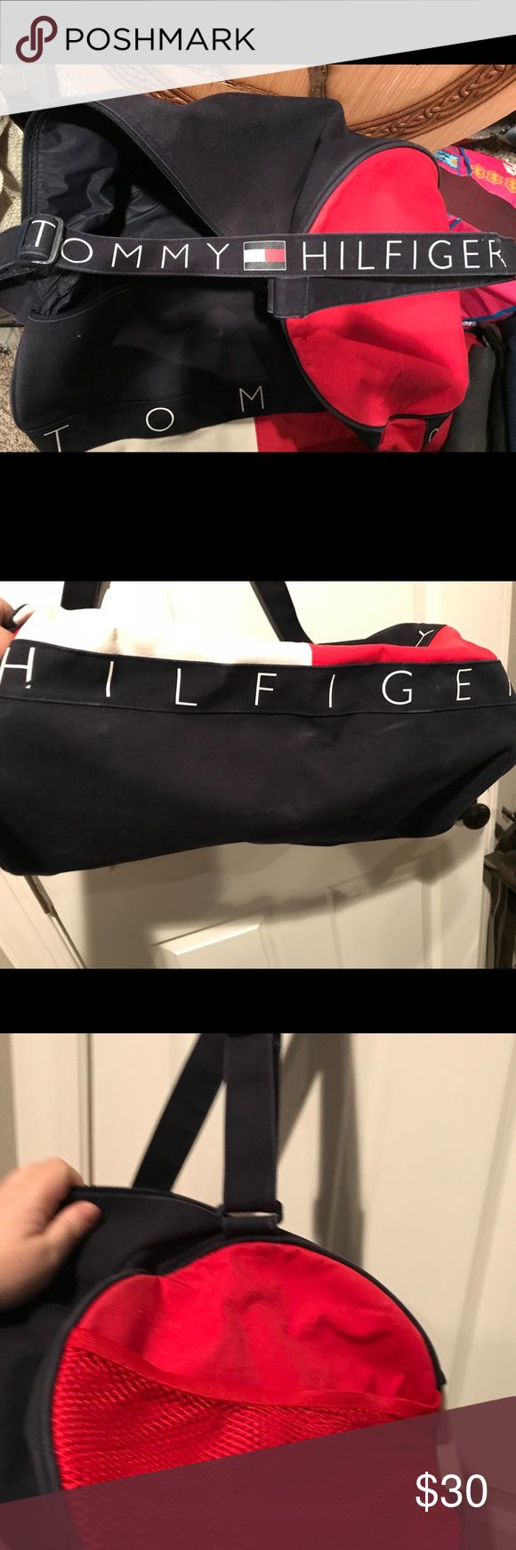 Tommy Hilfiger Boston bag Going on an overnighter? This Boston will make it nicer🦄 please buy this Boston she said🎼🎤The Tommy Boston mini Duffle has been a mover & shaker and a clothing taker. It's time to go a duffling. Tommy Hilfiger Bags Travel Bags