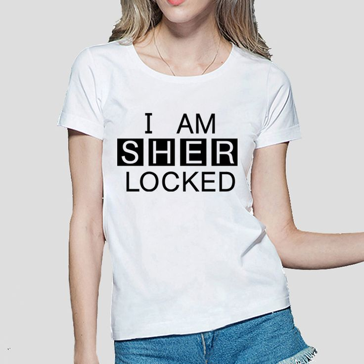 >> Click to Buy << 2016 I Am SHER Locked print women tshirt Sherlock Holmes funny cotton casual tops tees fashion harajuku brand punk t-shirt femme #Affiliate