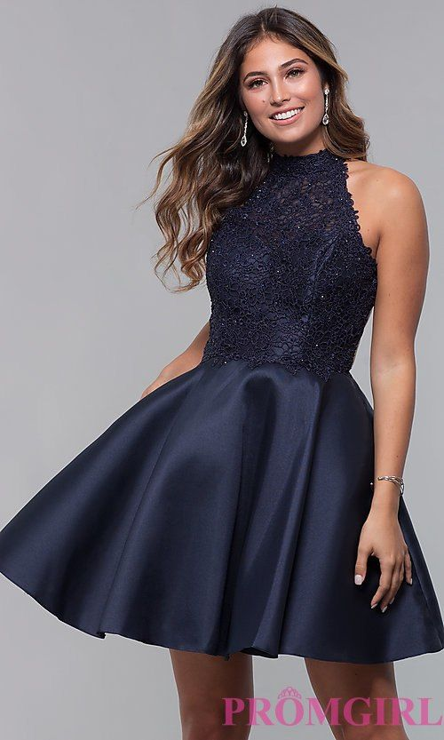5253102104b Fit-and-Flare Short Homecoming Dress by Alyce in 2019