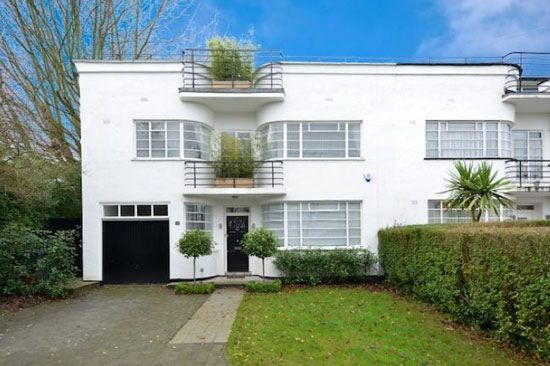 99 best images about art deco houses and gardens on for Streamline moderne house plans
