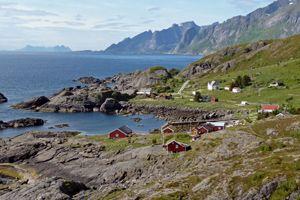 Départ de Nesland - Lofoten randonnée 4h Nusfjord Nesland