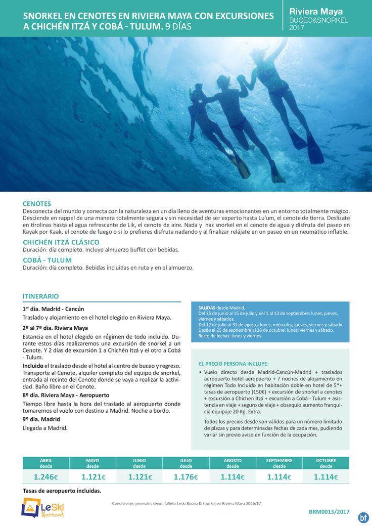 Riviera Maya Abr-Oct: Vuelos   7n TI   Buceo en arrecife de Playa del Carmen desde 972E