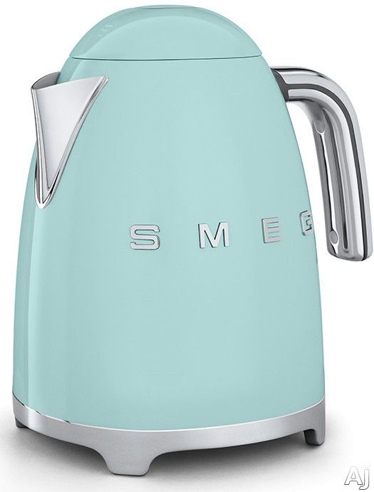 Smeg KLF01PGUS Electric Kettle with 56 oz. Capacity, Soft-Opening Lid, Auto Shut-Off, 360° Swivel Base, Anti-Slip Feet and Built-in Cord Wrap: Pastel Green