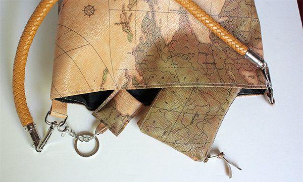 Borsa cartina borsellino portachiavi di Aramartigianato su Etsy