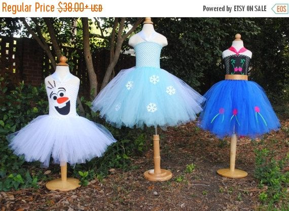 ONE DAY SALE Frozen Tutu Dress Elsa Anna or Olaf by shoppe3130