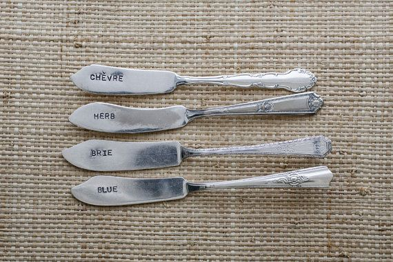 Vintage Silverware Butter Knife Cheese Marker Set of by WoodenHive (gift wrap option!)