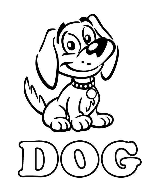 Cat & Dog - Free Printable Coloring Pages