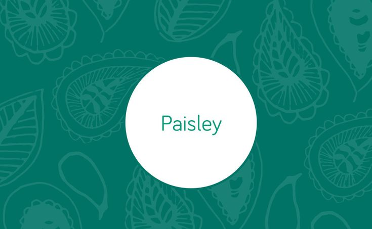 Paisley can be found in just about anything, from upholstered chairs to throws and wallpapers.