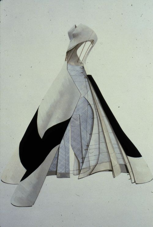 """Note: technical aspects of the """"Four leaf clover"""" type dress ______________________________________ Charles James - technical details"""