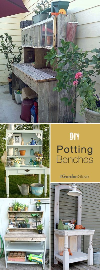 DIY Potting Benches • Lots of Ideas, Projects and Tutorials!