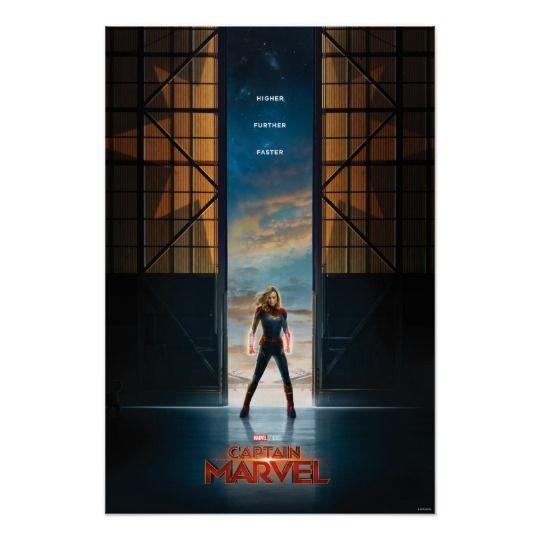 Captain Marvel in Hangar Movie Poster