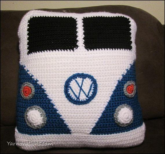 VW Van Pillow free  pattern