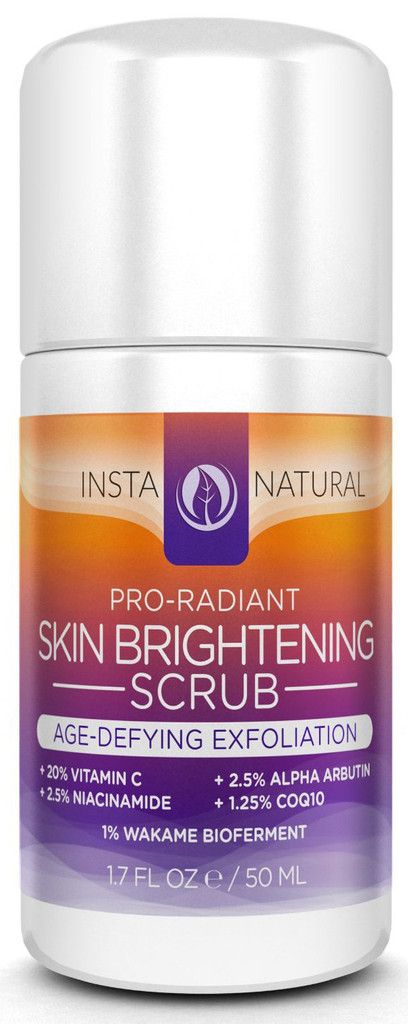 InstaNatural's Skin Brightening Scrub is a skin strengthening facial scrub that restores youthful radiance to aging, uneven, hyperpigmented and sun-damaged skin. Containing a robust 20% of Vitamin C, this powerful scrub offers maximum antioxidant protection against the damaging effects of sun exposure, as well as gentle exfoliation to diminish fine lines, wrinkles, spots and blemishes for a prime and pristine appearance.