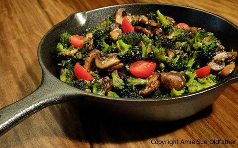 Marinated Broccoli and Mushroom Stir Fry..I am so going to try this!!
