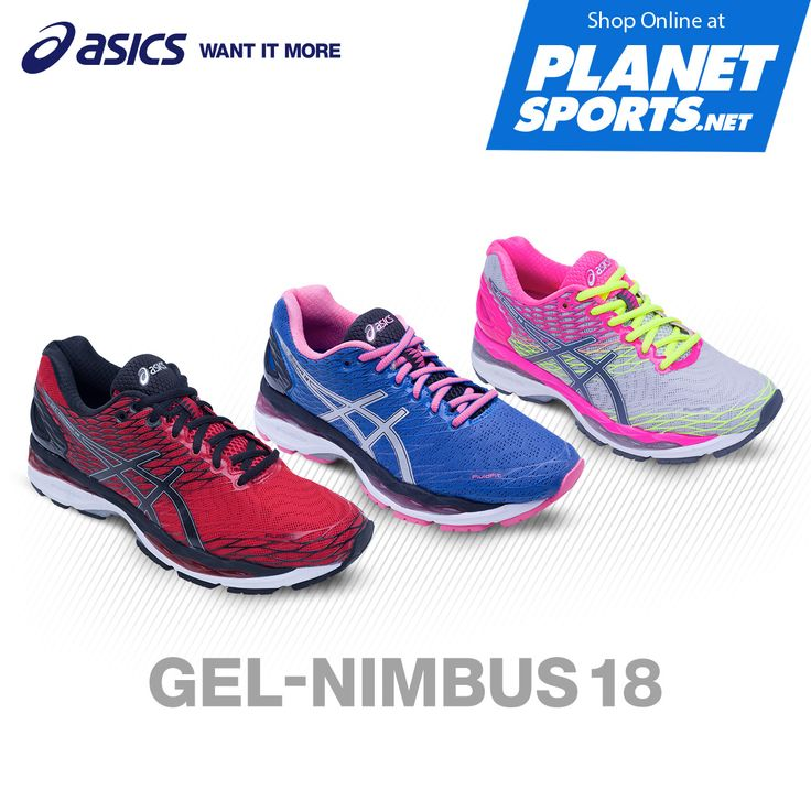 The new GEL placement in ASICS GEL-NIMBUS 18 offers modernized geometry of cushioning, designed to improve adaptability and mitigate brisk impacts. Now available at selected Planet Sports and shop online at www.planetsports.net
