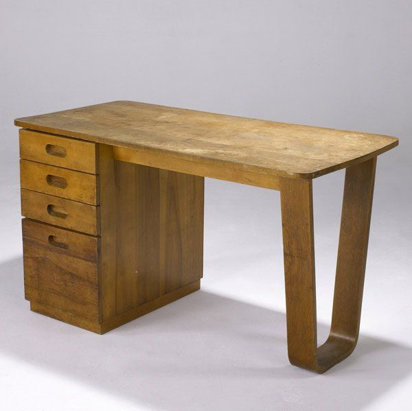 Marcel Breuer; Birch Plywood Desk for Bryn Mawr College, c1938.