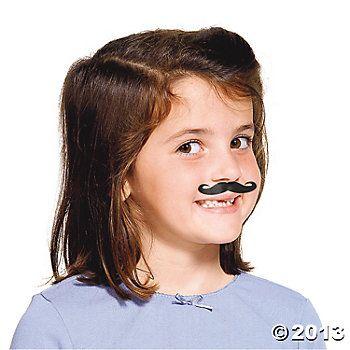 Life-Size Mustache Tattoo Assortment - Oriental Trading