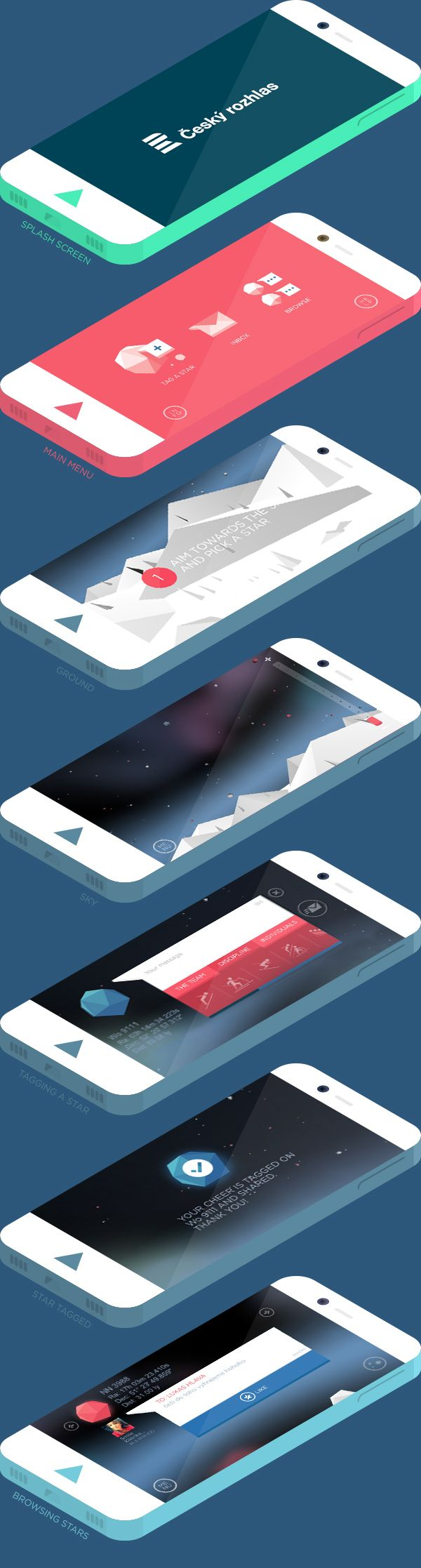 FANSTARS.APP by AARGH, via Behance