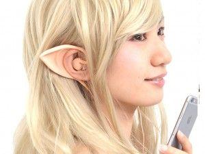 エルミタージュ秋葉原 – 耳に被せるだけの「妖精に変身!エルフ耳イヤフォン」がサンコーから