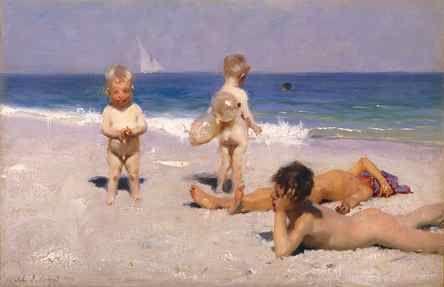 Historical Australian beach painting...