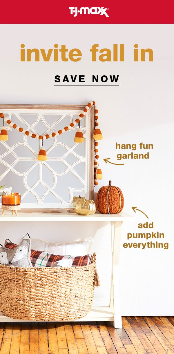 Get Your Home Ready For Fall Find Amazing Savings On Decor Pillows Accent Furniture More In Store And Online At T J Decor Handmade Home Decor Fall Decor