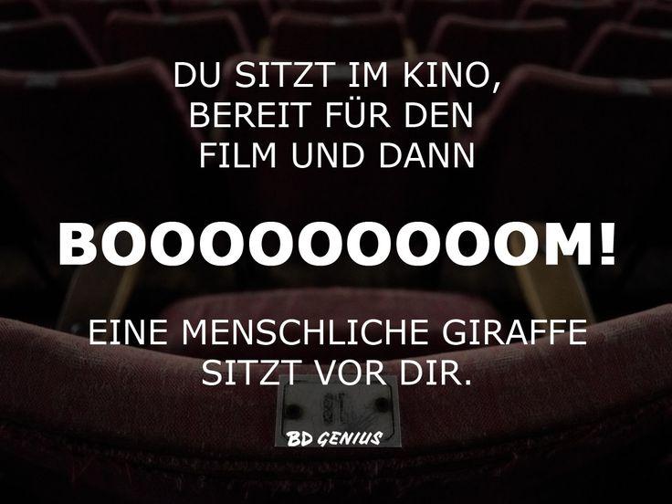 Jedes Mal, wenn ich im Kino bin ... #Kino #Giraffe #Keine Sicht #Kinofilm #Popcorn #Statements #Quotes #Sprüche #BDGenius