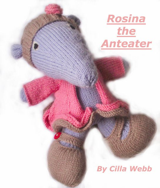 Ravelry: Rosina the Anteater pattern by Cilla Webb
