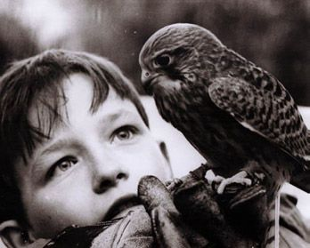 image from the film Kes (1969) by Ken Loach. The boy was played by David Bradley.