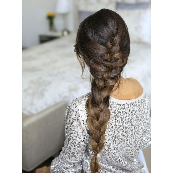 10 Easy Summer Braids ❤ liked on Polyvore featuring beauty products, haircare, hair styling tools, hair, hairstyles, beauty and hair styles