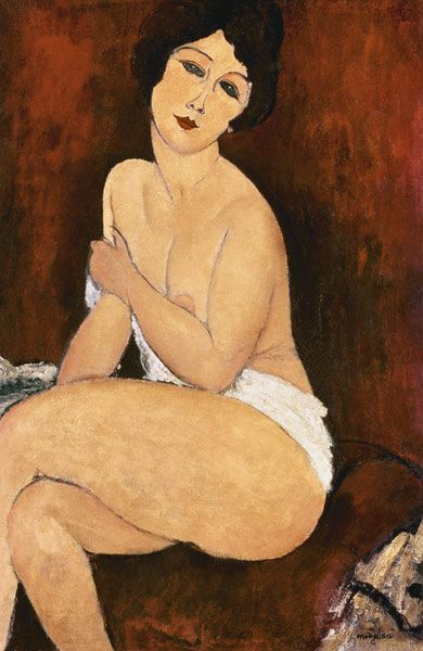 Amadeo Modigliani-Sedentary female act