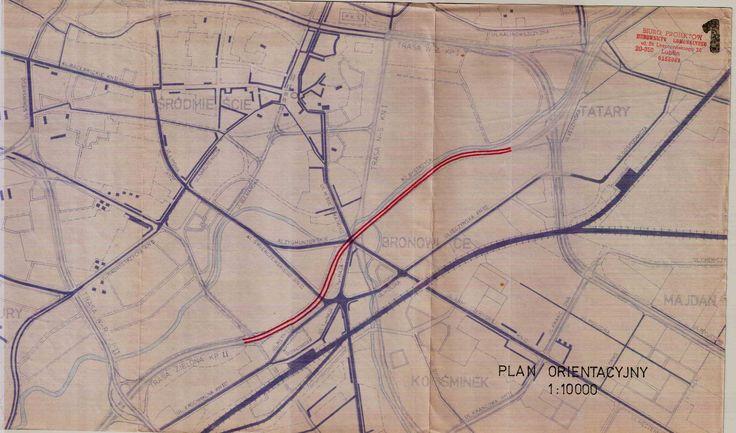mapa projektu dróg z lat 60/70, źródło; Kuba1200000