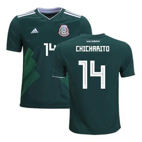 adidas Mexico Chicharito #14 WC2018 Soccer Jersey (Home 17/18): https://www.soccerevolution.com/store/products/ADI_41070_A.php