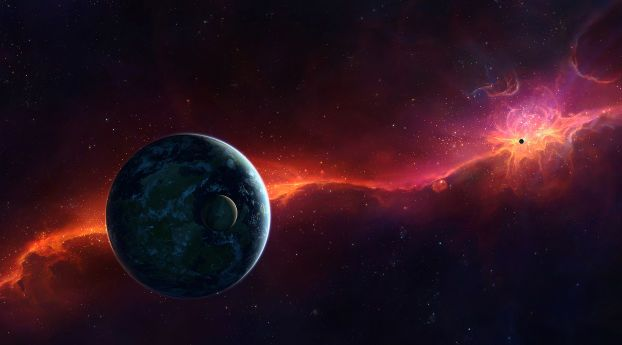 Sci Fi Space Red Wallpaper Hd Space 4k Wallpapers Images Photos And Background Wallpapers Den Sci Fi Wallpaper Nebula Wallpaper Space Art Ultra hd space wallpapers 4k