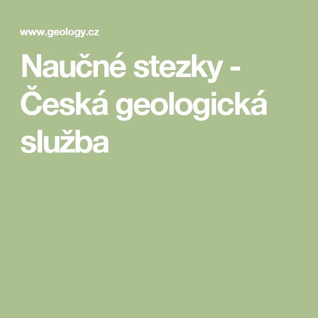 Naučné stezky - Česká geologická služba