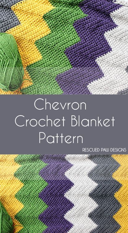 Colorful Chevron Crochet Blanket