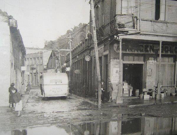 Calle Valdivia esquina calle Blanco Encalada, (año 1939).